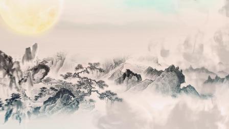 中秋节团圆水墨中国风宣传