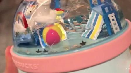 君晓天云国内代购星巴克新品杯子水上乐园场景独角兽游泳圈马克杯吸管杯