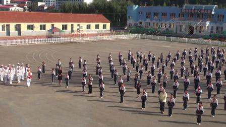 湾甸子镇中心小学开学主题升旗仪式