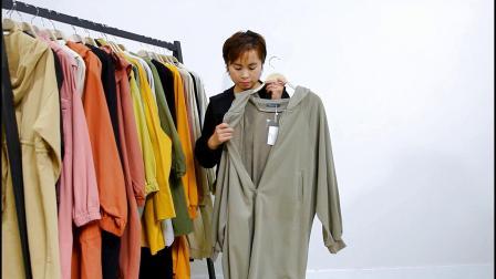725期/大厂品质,中长款水洗棉风衣系列组合/15件一份,均价63元
