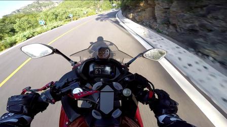 GSX250R 摩托车 京西108国道 跑山压弯
