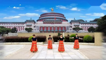 咸阳九月剧广场舞《站着等你三千年》摄影制作,冬青795