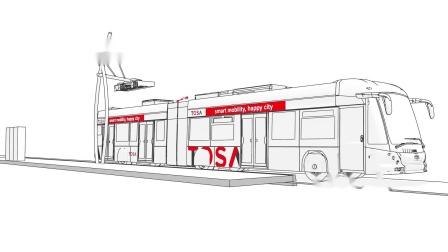 ABB TOSA电动公交闪充技术 (动画)