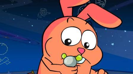 不一样的兔子 绘画篇 快来跟可爱的小兔子一起画彩虹吧,缺少了哪一种颜色呢?