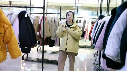 2019年新款90绒白鸭绒品牌羽绒服女装微商货源一件代发女装批发