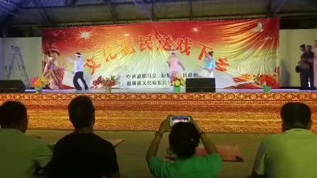 西双版纳州勐腊县文化下乡勐捧表演傣拳傣刀武