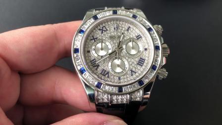 定制款 劳力士迪通拿116599 满钻密镶腕表