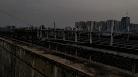 2019年9月7日,G6014次(福田站—长沙南站)本务中国铁路广州局集团有限公司广州动车段长沙动车运用所CRH3C型重联广州北站通过