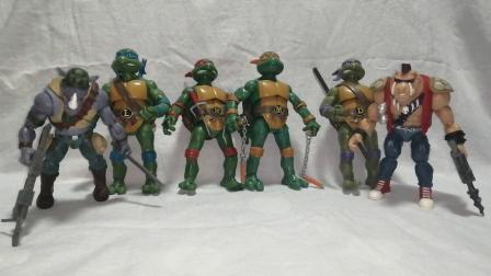 钟爱评测 可动人形 第474期 1987年动画版忍者神龟彩星正版,第一次和闺女一起录视频