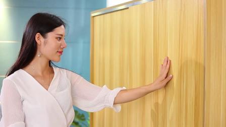 君晓天云拉门衣柜简约现代卧室实木板式柜子宿舍简易衣橱经济型儿童衣柜