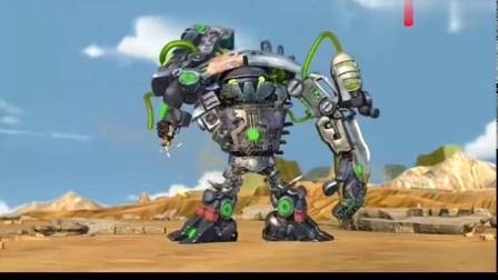 蓝猫龙骑团:水灵珠被摧毁,淘气为了保护炫迪,被垃圾王打中!