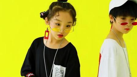 君晓天云儿童嘻哈街舞套装男女童架子鼓表演舞蹈演出服装爵士舞培训练功服