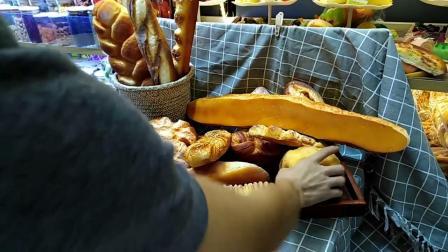 君晓天云仿真三明治汉堡法式长棍火腿肠慢回弹麵包模型食物拍摄烘焙道具