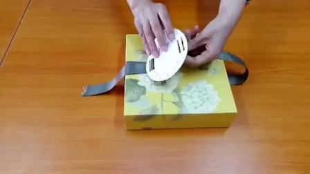 君晓天云50-80g绣球花款月饼盒46粒 蛋黄酥中式糕点纸盒含丝带 烘焙包装