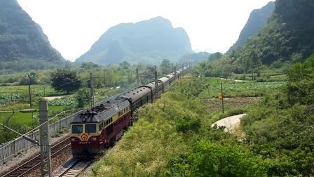 9.7进德湘桂线DF4D牵引K654暴力加速通过K551+030m