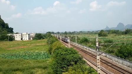 9.7进德湘桂线HXD3C牵引T381快速通过K551+030m