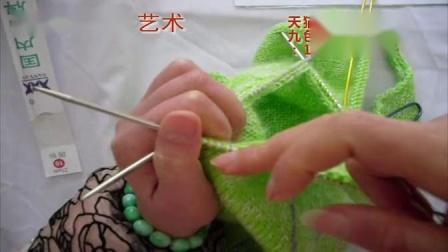 棒针—粉天使KT猫A字裙第八集:挑袖织袖子演示_高清