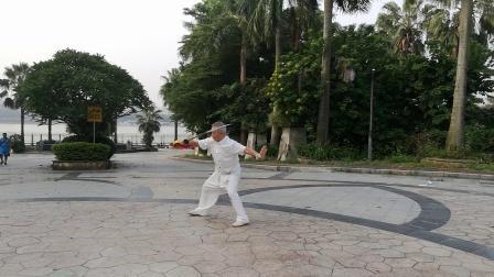 东莞石龙王屋新村36式太极刀2019年9月9日