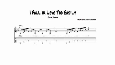 【爵士練習】吉他:轉錄Ralph Towner - I Fall in Love Too Easily