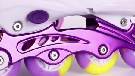 君晓天云包邮乐可可溜冰鞋儿童全套装男女初学者滑冰单排旱冰鞋直排轮可调