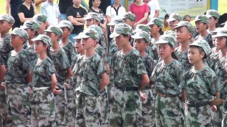 广州市增城区新塘第三中学2019军训会操