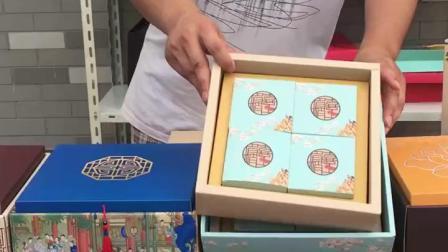 君晓天云默言中秋月饼礼盒空盒外包装盒8粒装高档定製双层盒子100克礼品盒