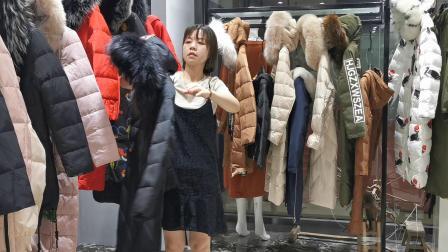 纳瑞希羽绒服19冬 专柜品牌羽绒服 品牌折扣尾货批发 直播拿货批发货源