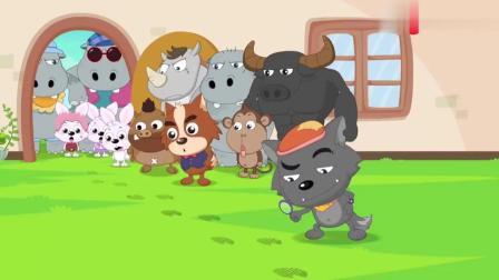 喜羊羊:懒羊羊太馋了,偷吃庆典蛋糕,小动物们都不乐意了