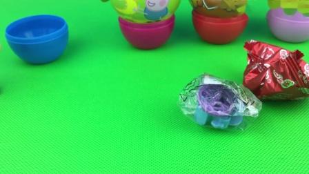 莱德队长拆小猪佩奇奇趣蛋 愤怒的小鸟开心球