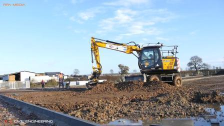 杰西博JS145W轮式挖掘机