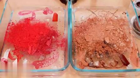 水晶泥大作战,巧克力包裹草莓混泥,无硼砂史莱姆,效果太好了