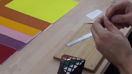 5x5x5 Dodecagonal Bipyramid - STICKERING TIMELAPSE