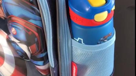 君晓天云迪士尼儿童水杯带吸管男女小学生防摔防漏水壶运动可携式塑料杯子