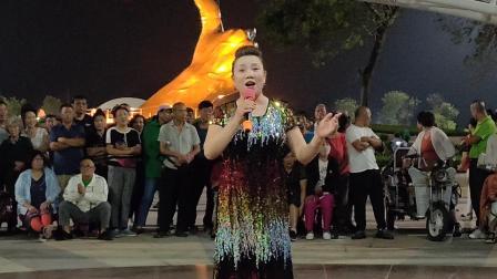 2019.9.9  女声独唱《吐鲁番的葡萄熟了》  演唱:董玉兰   —— 银滩小白杨激情广场文艺演出