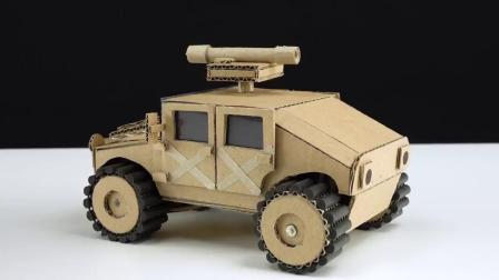 牛人用硬纸板制作RC汽车模型,这遥控玩具车的性能太强悍了