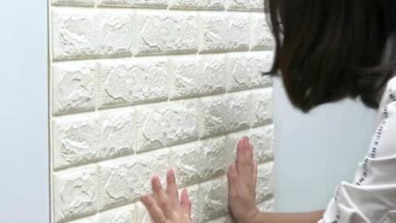 君晓天云3d立体砖纹墙贴房间卧室墙面装饰防水防潮壁纸壁纸自粘出租屋改造