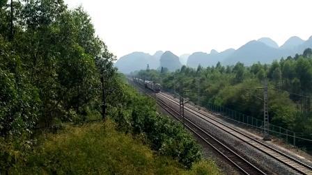 9.13进德湘桂线HXD3D牵引K22快速通过K555+420m