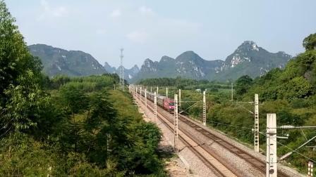 9.13进德湘桂线HXD3D牵引K21快速通过
