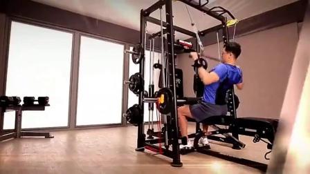 君晓天云康强BK3000家用综合训练器史密斯机健身房组合力量器材促销包邮