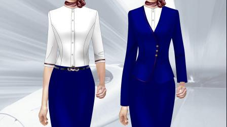 空姐服定制-设计空姐服款式、时尚、大气、前卫