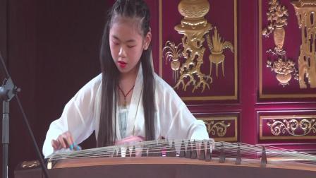 古筝弹奏(凤翔歌),宁波市霞影戏曲工作室学员王心月(10)岁在宁波熨斗博物馆演奏。