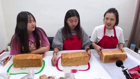 少女最爱吃的巨大蜜糖吐司高塔