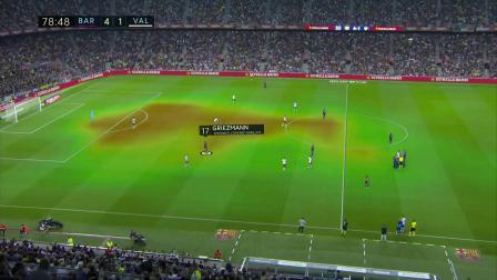 西甲4轮 巴塞罗那5-2瓦伦西亚 第79分钟精彩回顾