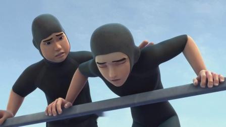 顺溜和小伙伴进行潜水训练,顺溜突然晕船了,这下怎么解决!