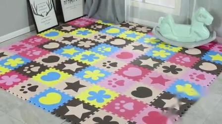 君晓天云泡沬地垫拼接榻榻米垫子拼图地板爬爬垫卧室婴儿童爬行垫家用地毯