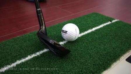 君晓天云送转动棒室内高尔夫 挥杆训练器 初学挥杆练习器 迷你打击垫