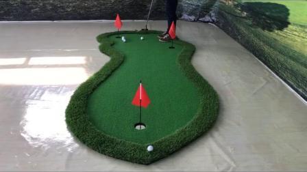 君晓天云高尔夫果岭推桿练习器 室内家用高尔夫球垫 迷你练习毯BC可定製