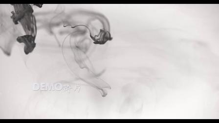 f401 2k画质青花瓷中国风水墨旗袍秀模式烟雾黑白水墨风视频素材
