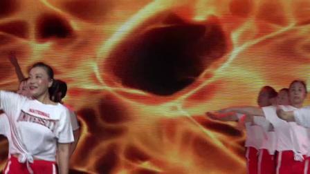舞动潇湘.2019广场舞大赛长沙城市决浏阳市人民医院健身队表演《绿旋风》纯视频