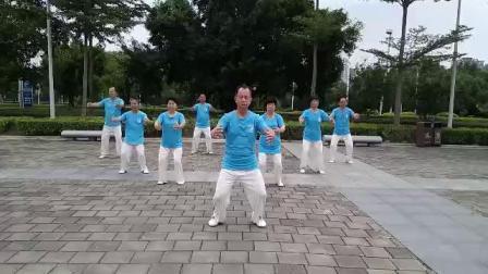 梦太极拳友习练八段锦19.09.15(1)